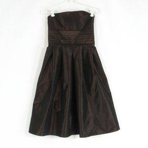 Brown ANN TAYLOR empire waist dress 0